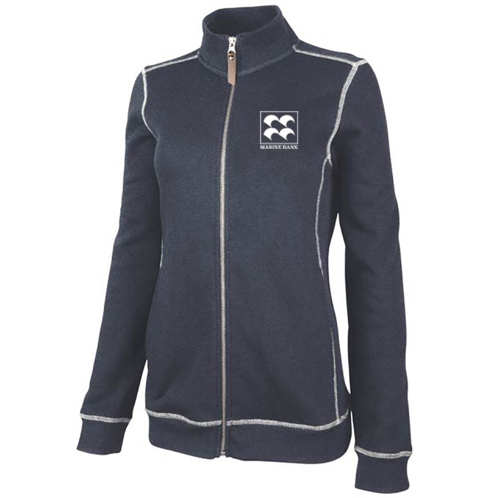 Charles River Apparel® Women's Conway Flatback Rib Full-Zip Jacket - Personalization Available