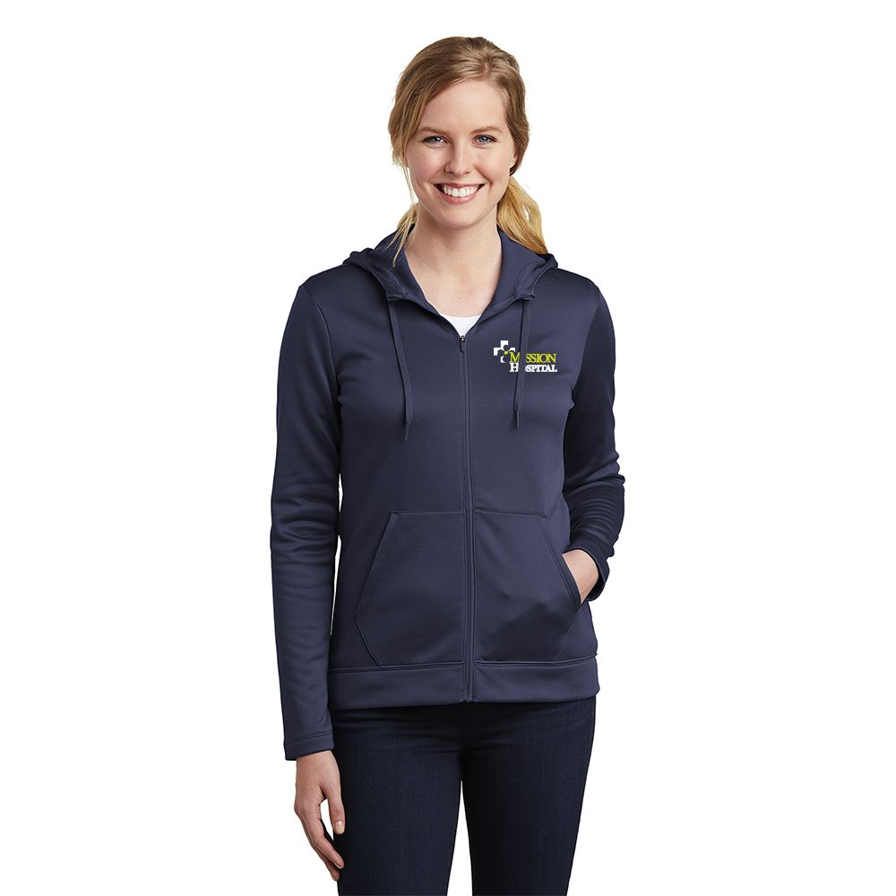 Nike® Women's Therma-FIT Full-Zip Fleece Hoodie - Personalization Available