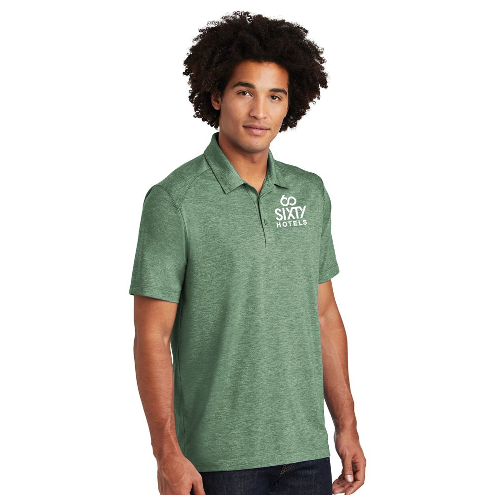 Sport-Tek® Men's PosiCharge® Tri-Blend Wicking Polo- Embroidery Personalization Available