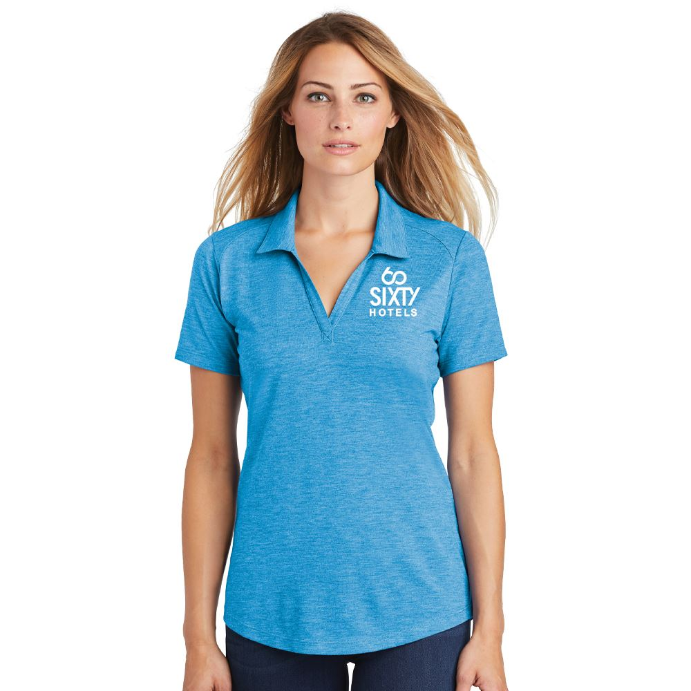 Sport-Tek® Women's PosiCharge® Tri-Blend Wicking Polo - Embroidery Personalization Available