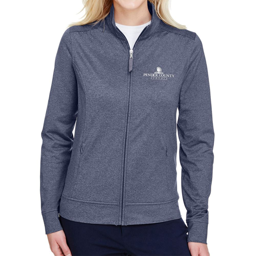 Women's UltraClub Navigator Heather Performance Full-Zip