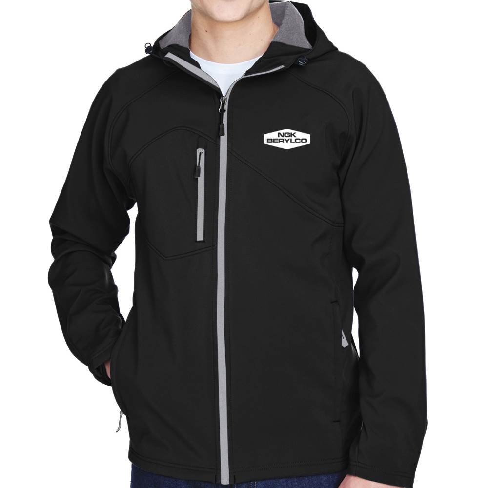 North End® Men's Prospect Two-Layer Fleece Bonded Soft Shell Hooded Jacket - Personalization Available