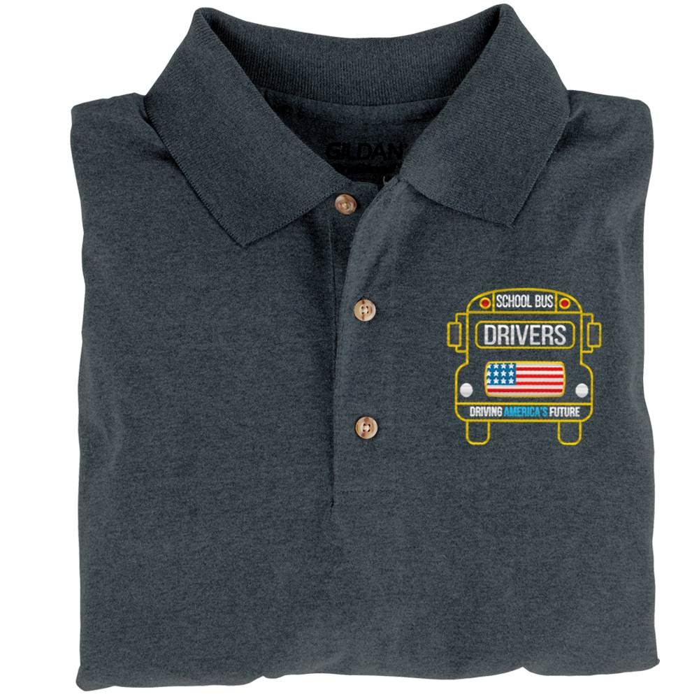 School Bus Drivers: Driving America's Future GIldan® DryBlend Jersey Polo - Personalization Available