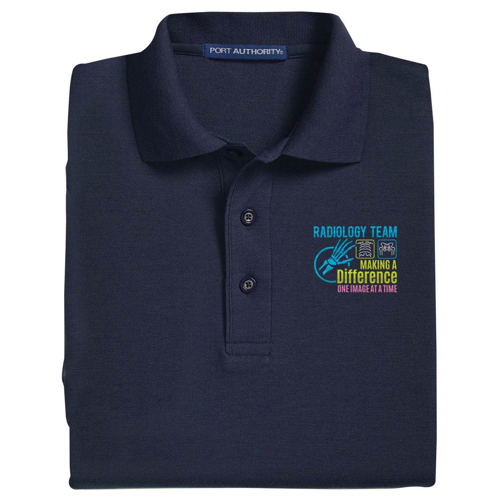 Radiology Team: Making A Difference One Image At A Time Port Authority® Silk Touch Polo - Personalization Optional
