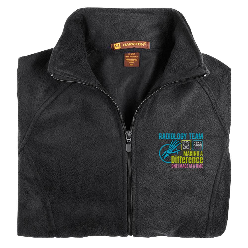 Radiology Team: Making A Difference One Image At A Time Women's Harriton® Full-Zip Fleece Jacket - Personalization Available