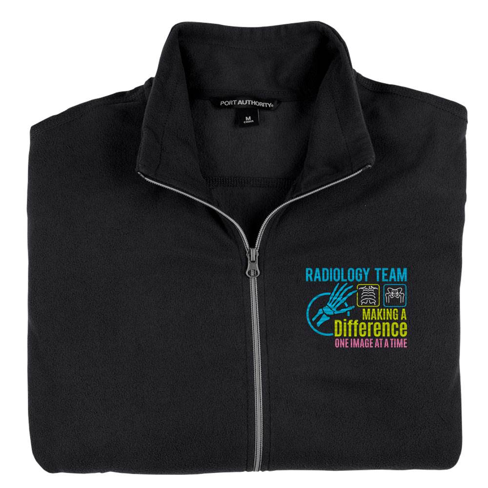 Radiology Team: Making A Difference One Image At A Time Port Authority® Men's Full-Zip Microfleece Jacket - Personalization Optional