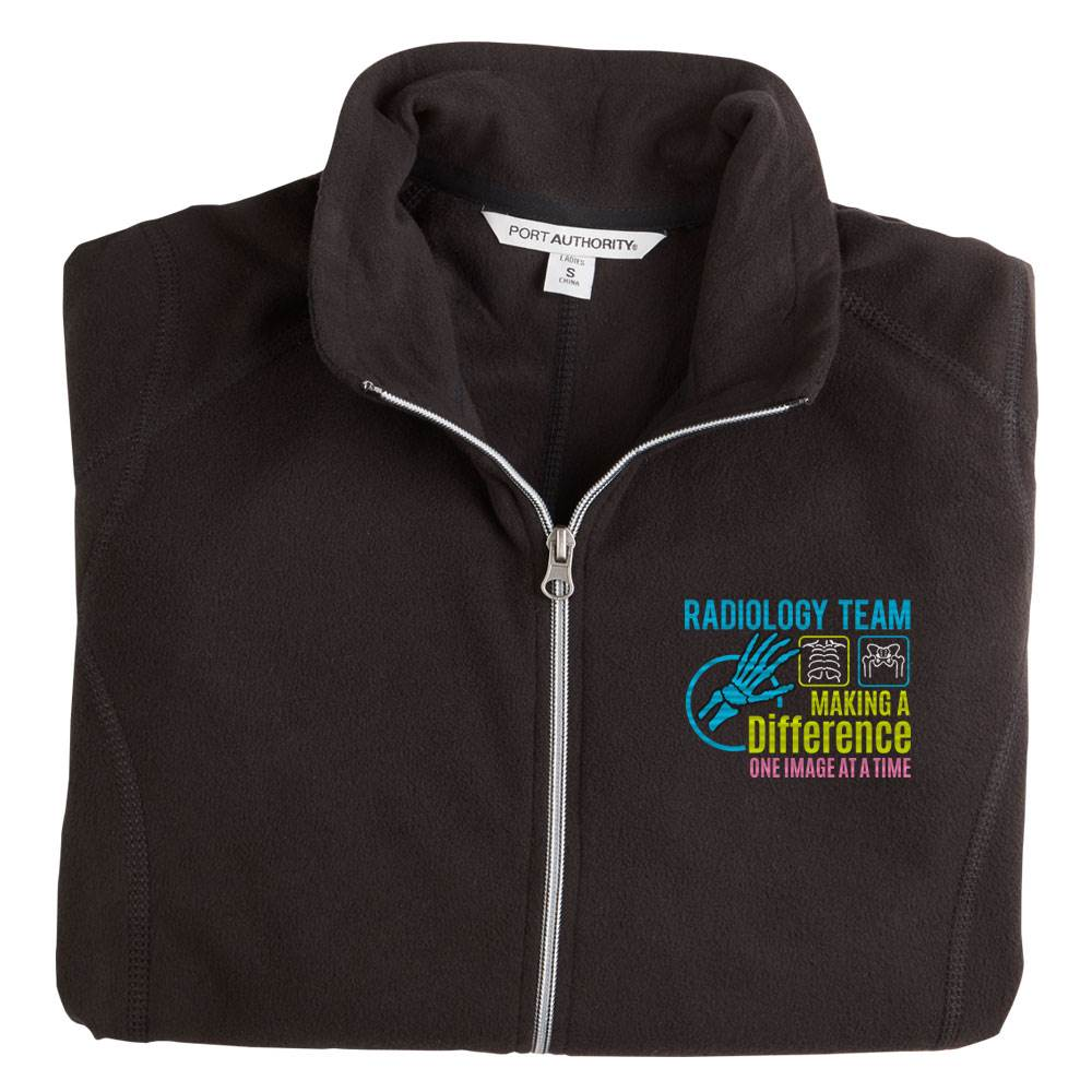 Radiology Team: Making A Difference One Image At A Time Port Authority® Women's Full-Zip Microfleece Jacket - Personalization Available