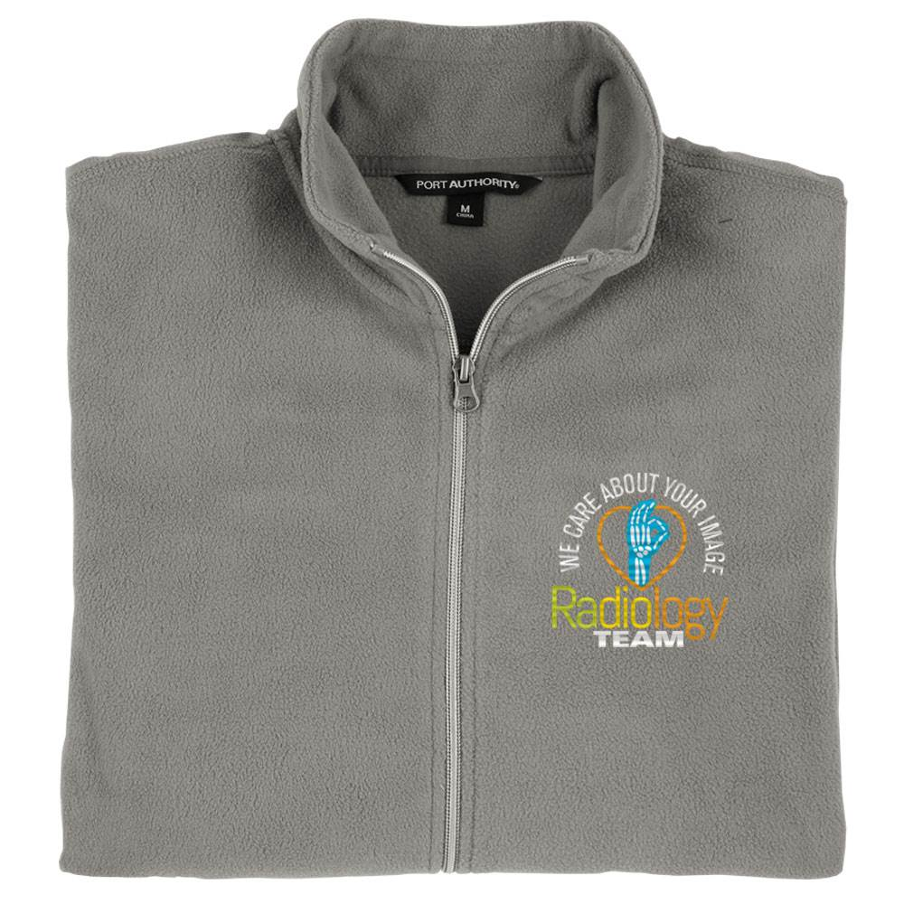 Radiology Team: We Care About Your Image Port Authority® Men's Full-Zip Microfleece Jacket - Personalization Optional
