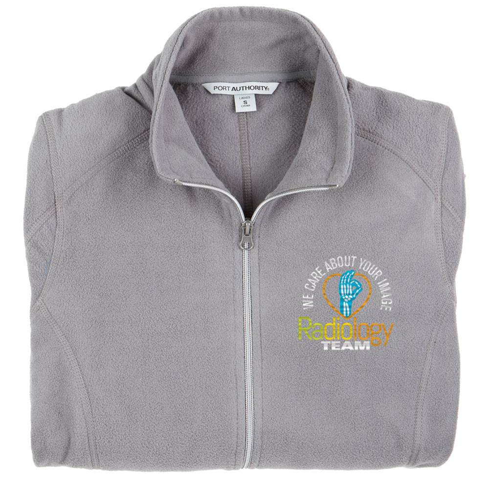 Radiology Team: We Care About Your Image Port Authority® Women's Full-Zip Microfleece Jacket - Personalization Available