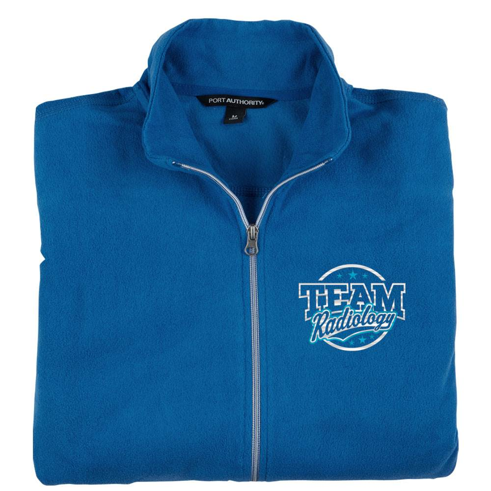 Team Radiology Port Authority® Men's Full-Zip Microfleece Jacket - Personalization Available