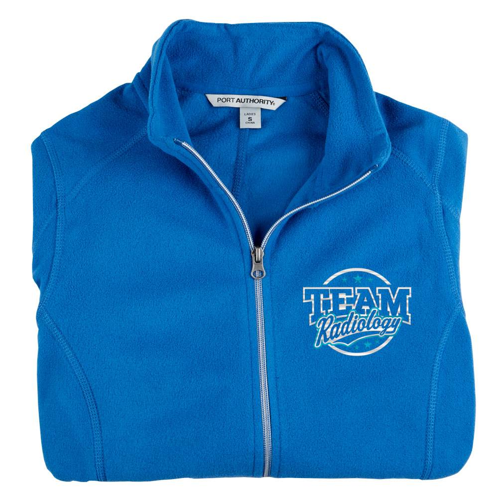 Team Radiology Port Authority® Women's Full-Zip Microfleece Jacket - Personalization Available