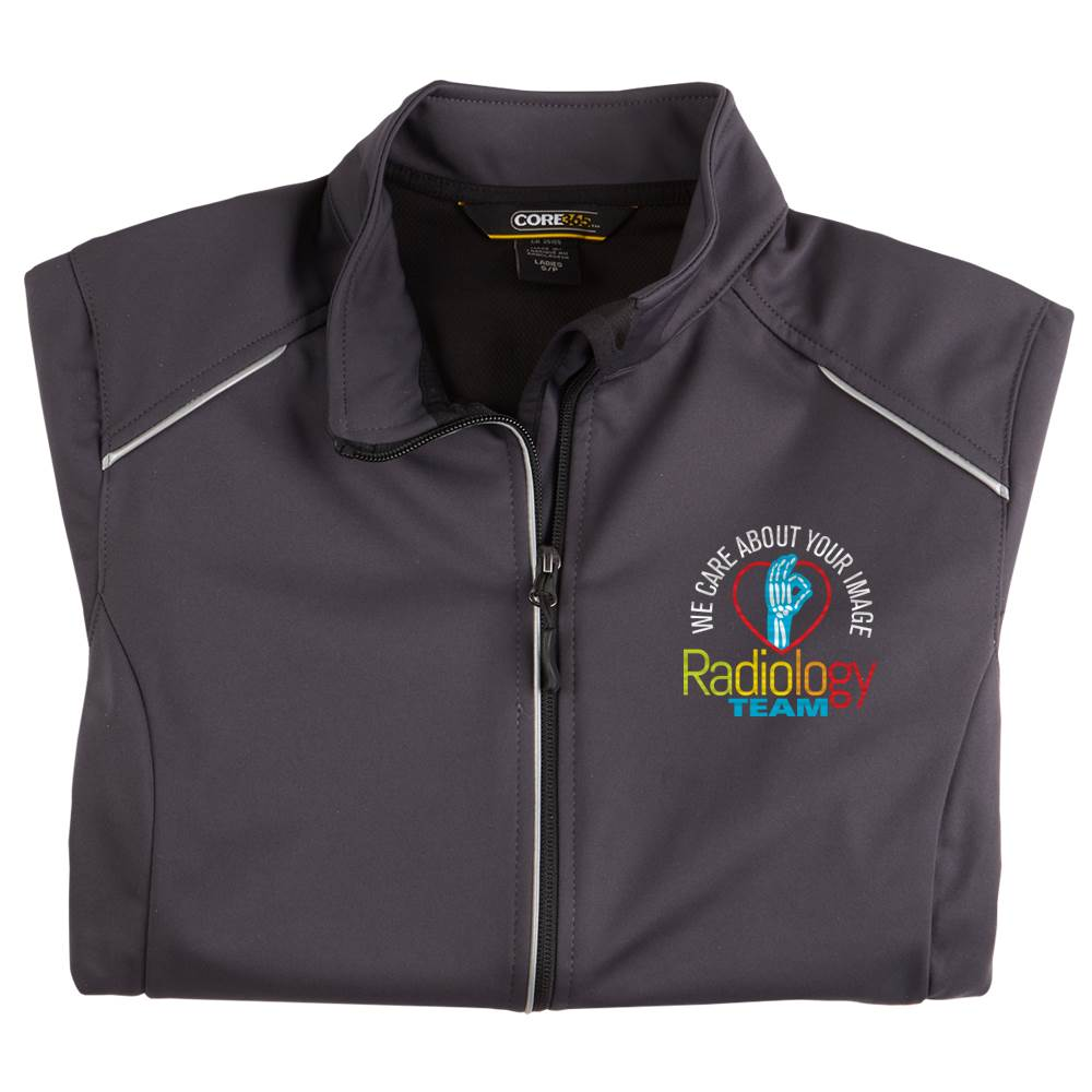 Radiology Team: We Care About Your Image Women's Core 365® Three-Layer Knit Full-Zip Jacket - Personalization Available