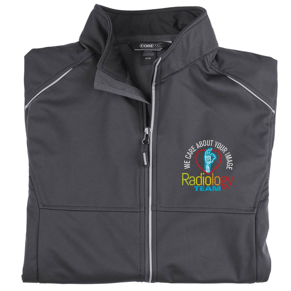Radiology Team: We Care About Your Image Men's Core 365® Three-Layer Knit Full-Zip Jacket - Personalization Available