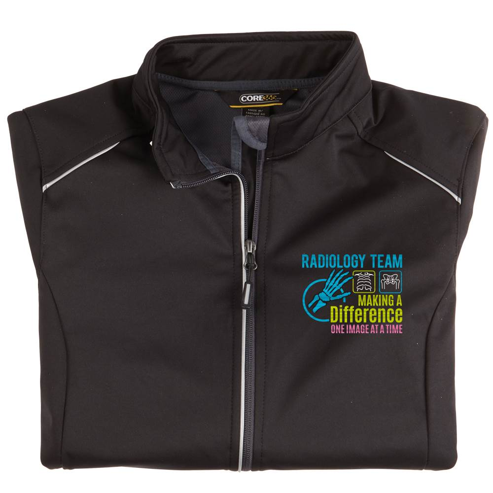 Radiology Team: Making A Difference One Image At A Time Women's Core 365® Three-Layer Knit Full-Zip Jacket- Personalization Available