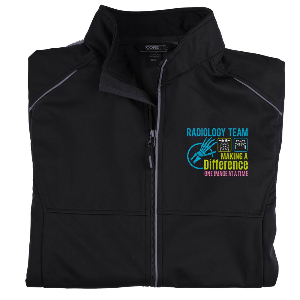 Radiology Team: Making A Difference One Image At A Time Men's Core 365® Three-Layer Knit Full-Zip Jacket - Personalization Available