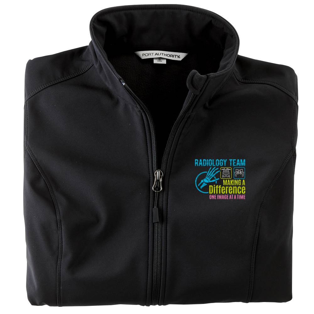 Radiology Team: Making A Difference One Image At A Time Women's Port Authority® Core Soft Shell Jacket - Personalization Available