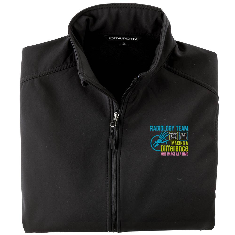 Radiology Team: Making A Difference One Image At A Time Men's Port Authority® Core Soft Shell Jacket - Personalization Available