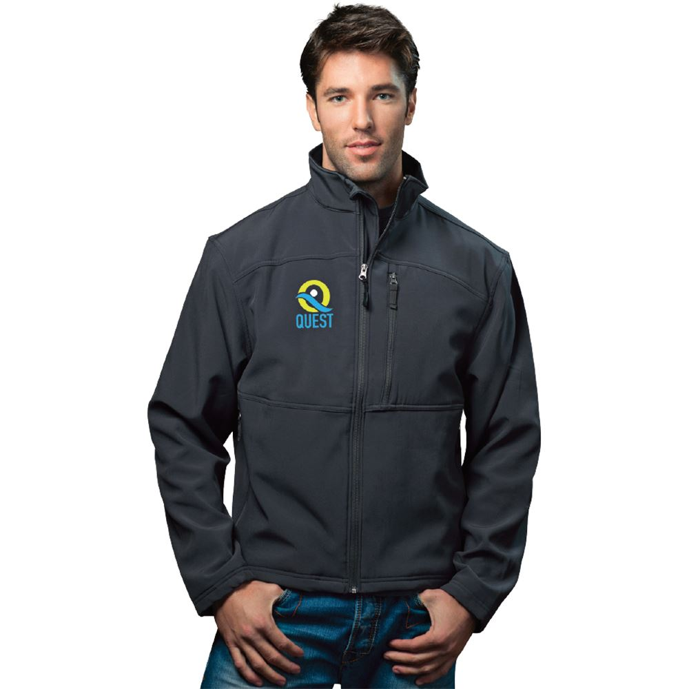 Fossa Apparel® Men's Downtown Soft Shell Jacket - Embroidered Personalization Available