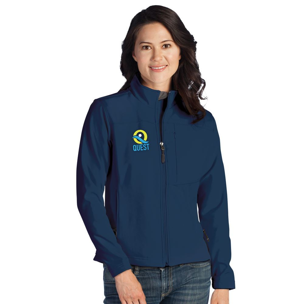 Fossa Apparel® Women's Downtown Soft Shell Jacket - Embroidered Personalization Available