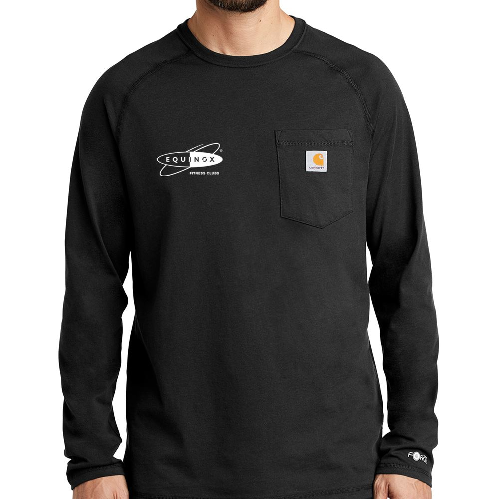 Men's Carhartt Force® Cotton Delmont Long Sleeve T-Shirt - Personalization Available