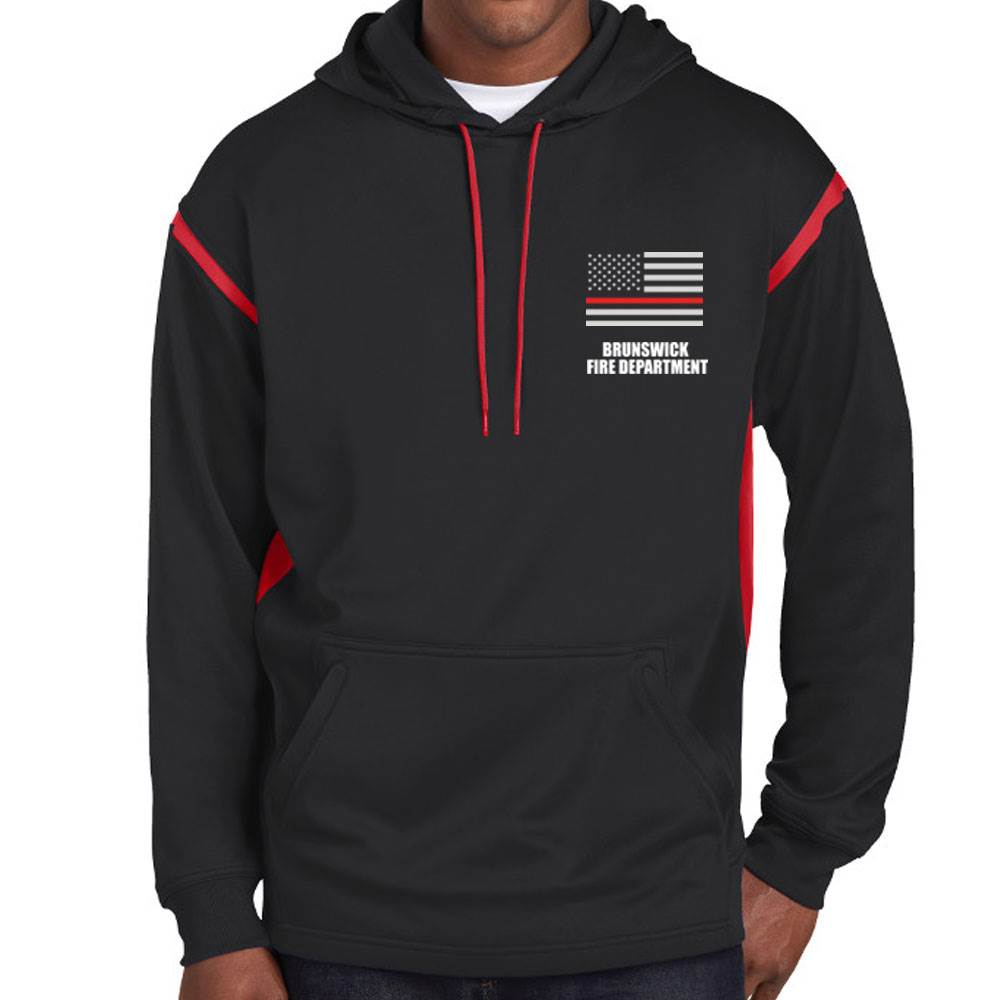 The Thin Red Line Sport-Tek® Tech Fleece Colorblock Hooded Sweatshirt - Personalization Available
