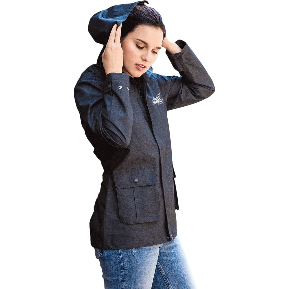 Fossa Apparel Voyager Parka Women's Rain Jacket - Personalization Available