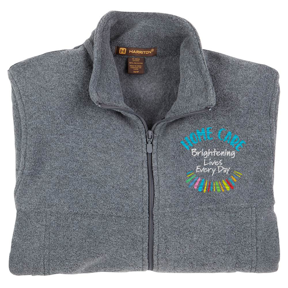 Home Care: Brightening Lives Every Day Harriton® Full-Zip Fleece Jacket - Personalization Optional