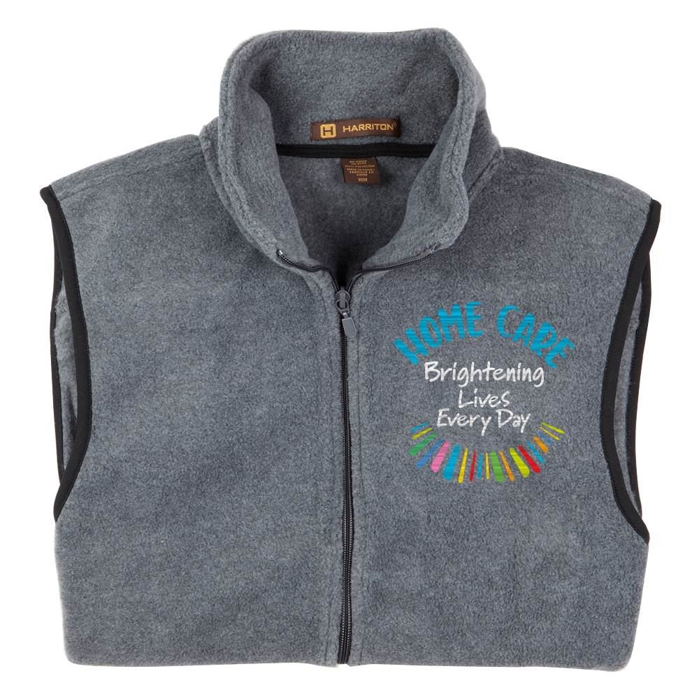 Home Care: Brightening Lives Every Day Harriton® Full-Zip Fleece Vest - Personalization Optional