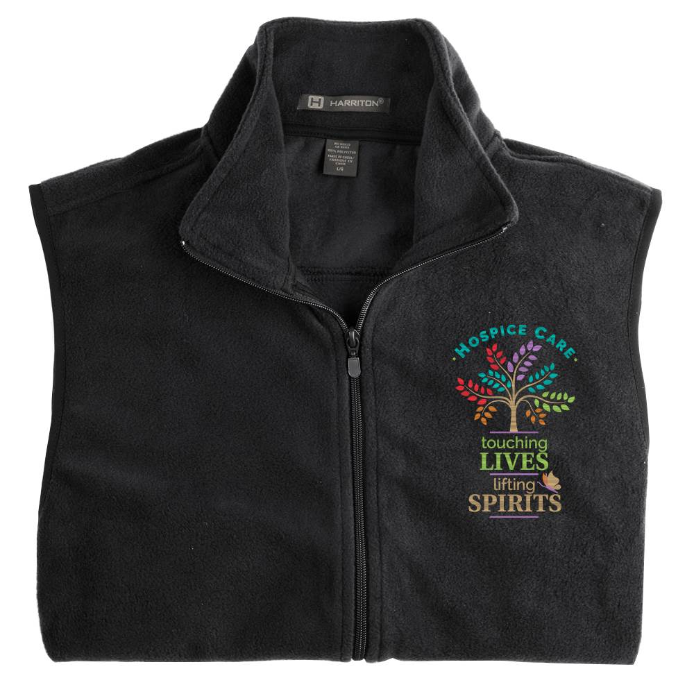 Hospice Care: Touching Lives, Lifting Spirits Harriton® Full-Zip Fleece Vest - Personalization Available