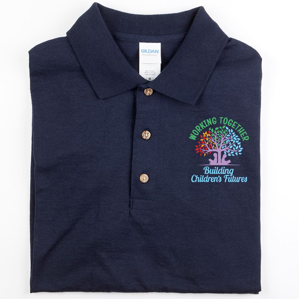 Working Together Building Children's Futures Gildan® DryBlend Jersey Polo - Personalization Optional