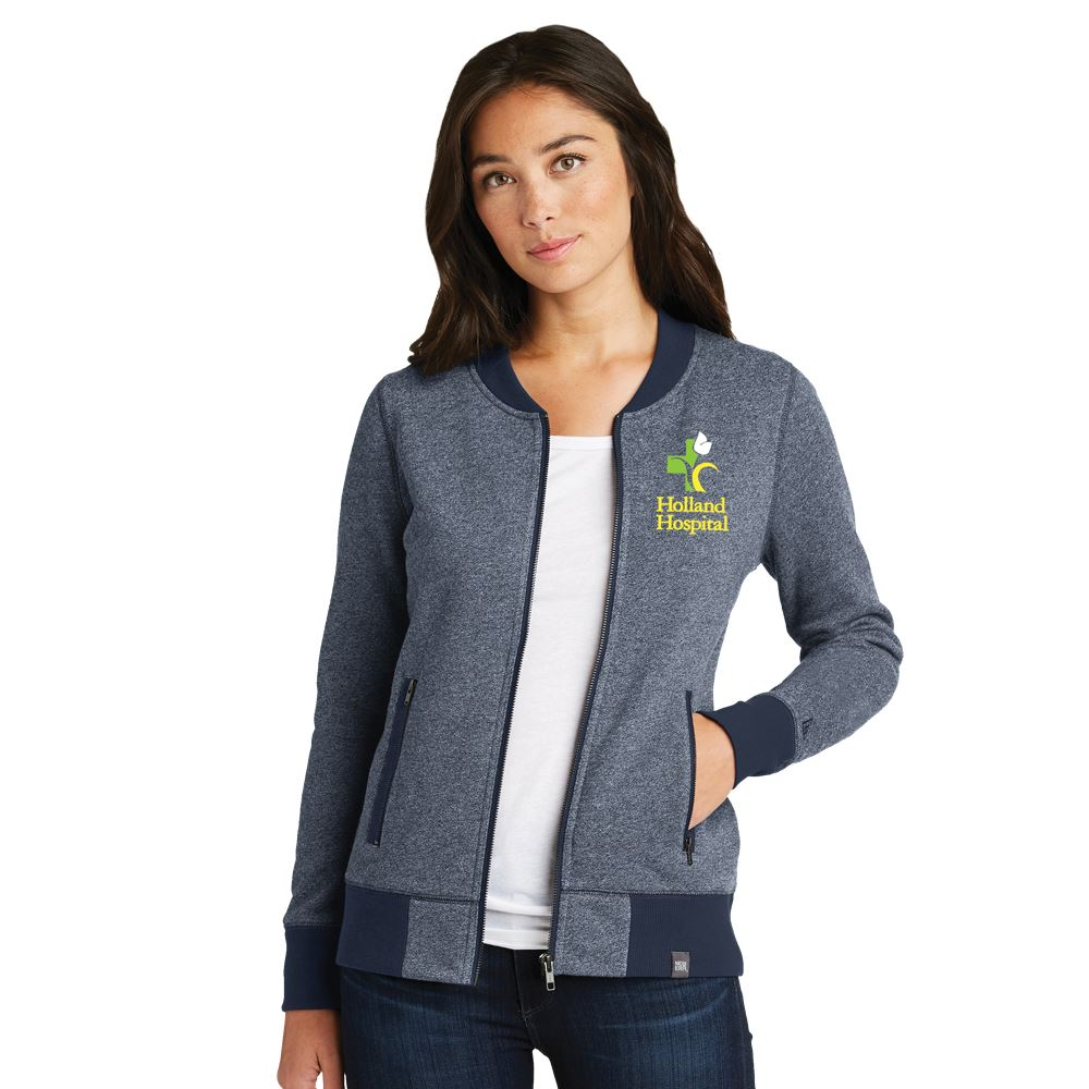 New Era French Terry Heathered Women's��Full-Zip Jacket - Personalization Available