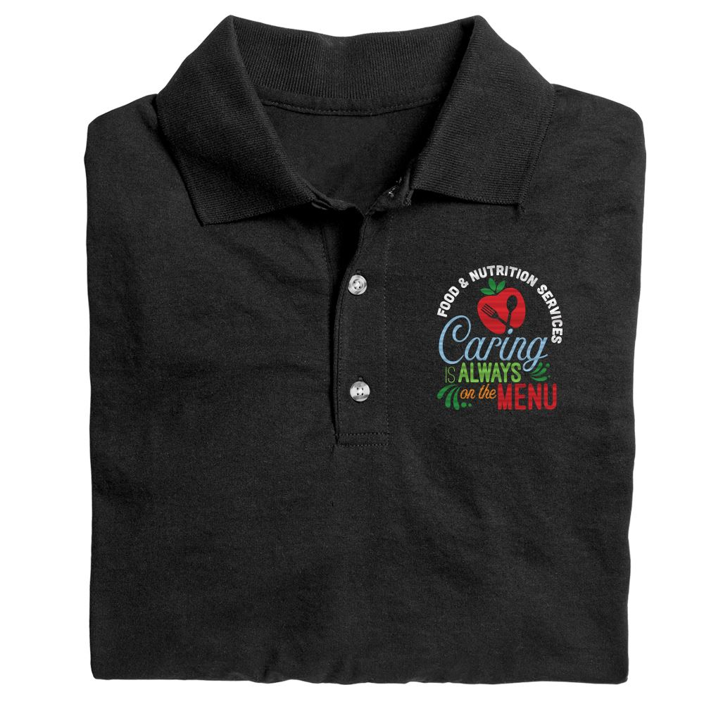 Food & Nutrition Services: Caring Is Always On The Menu Gildan® DryBlend Jersey Polo - Personalization Optional