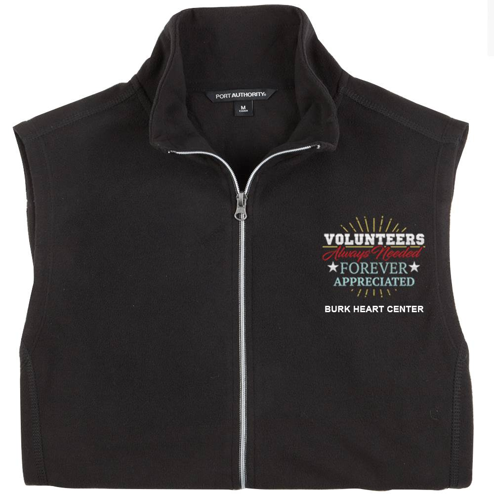 TEAM WEAR Port Authority® Men's Full-Zip Microfleece Vest - Personalization Available