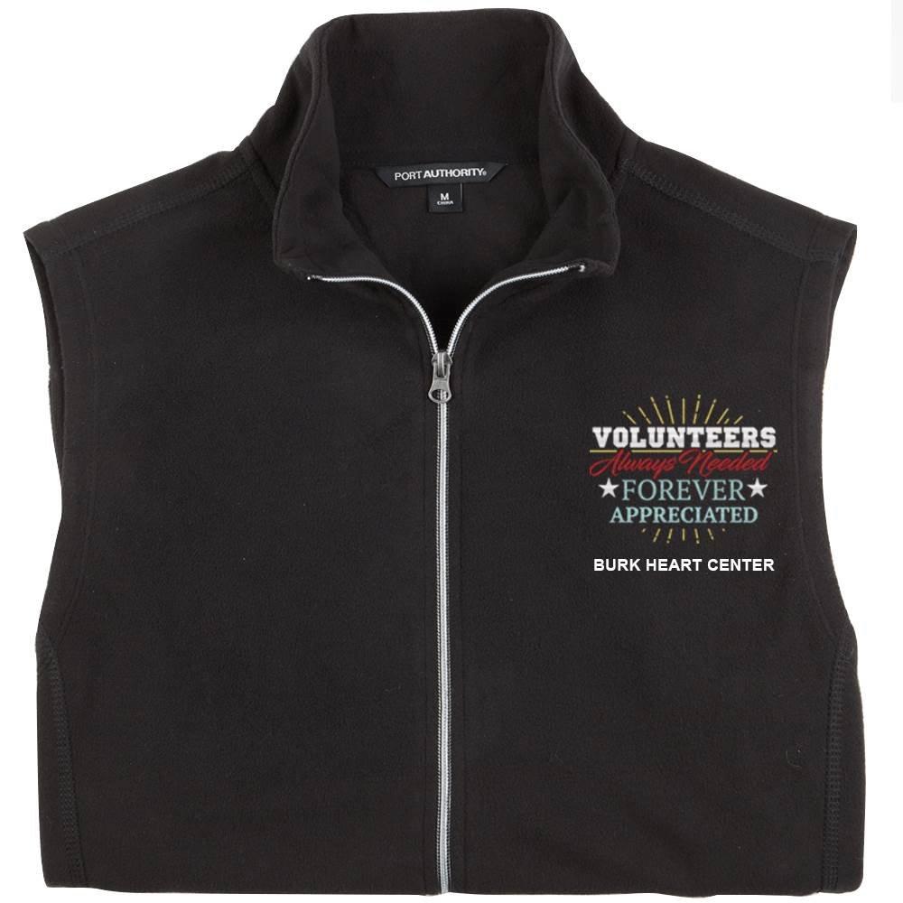 TEAM WEAR Port Authority® Men's Full-Zip Microfleece Vest - Personalization Available