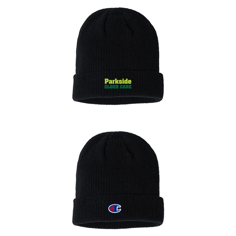 Champion Ribbed Knit Cap - Personalization Available