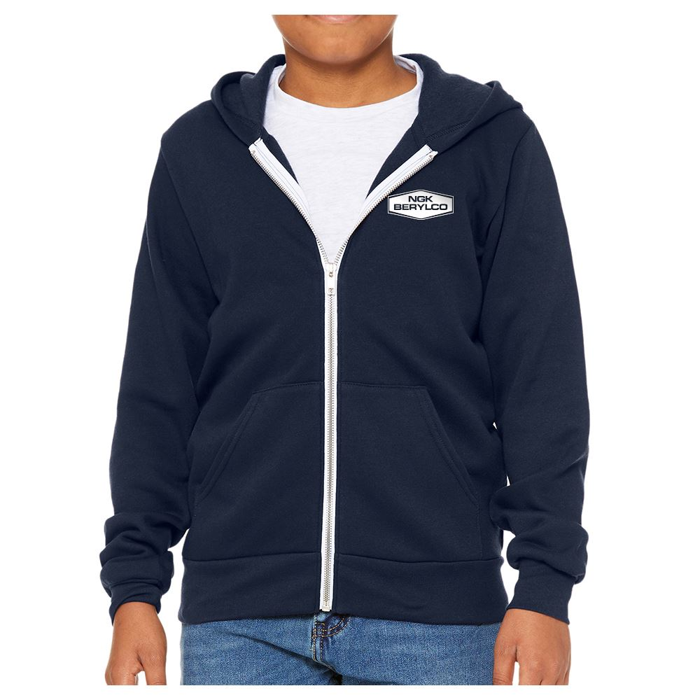 Bella+Canvas Youth Sponge Fleece Full-Zip Hoodie - Personalization Available
