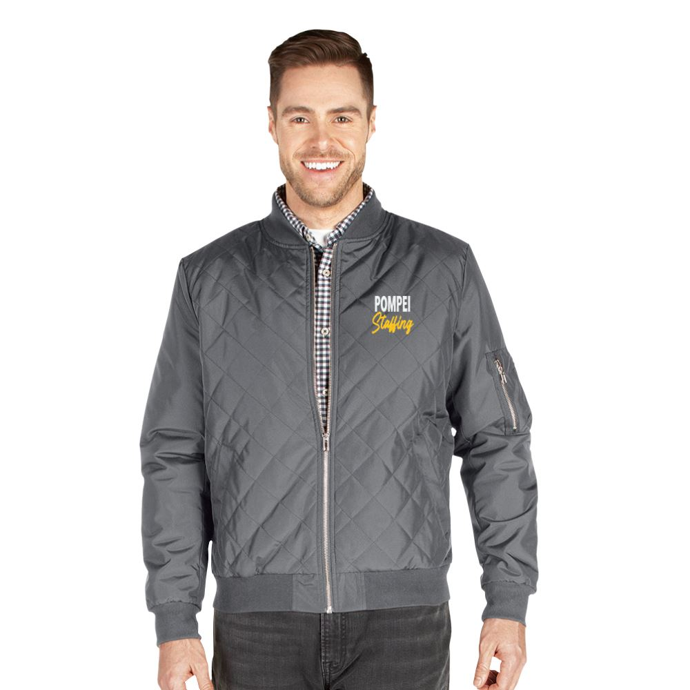 Charles River Apparel® Men's Quilted Boston Flight Jacket - Personalization Available