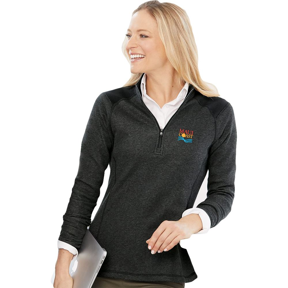 Adidas® Women's�Heathered Quarter Zip Pullover - Personalization Available