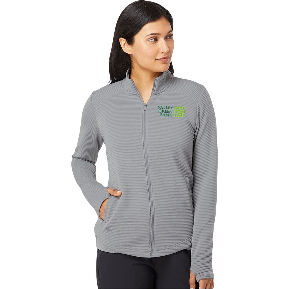 Adidas® Women's Textured Full-Zip Jacket -Embroidery Personalization Available