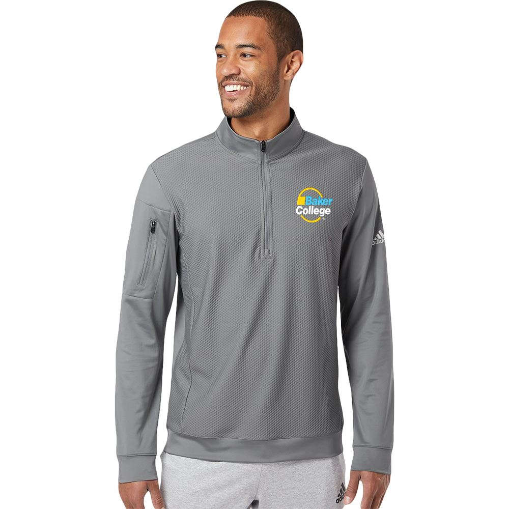 Adidas® Men's Performance Texture Quarter-Zip Pullover - Personalization Available
