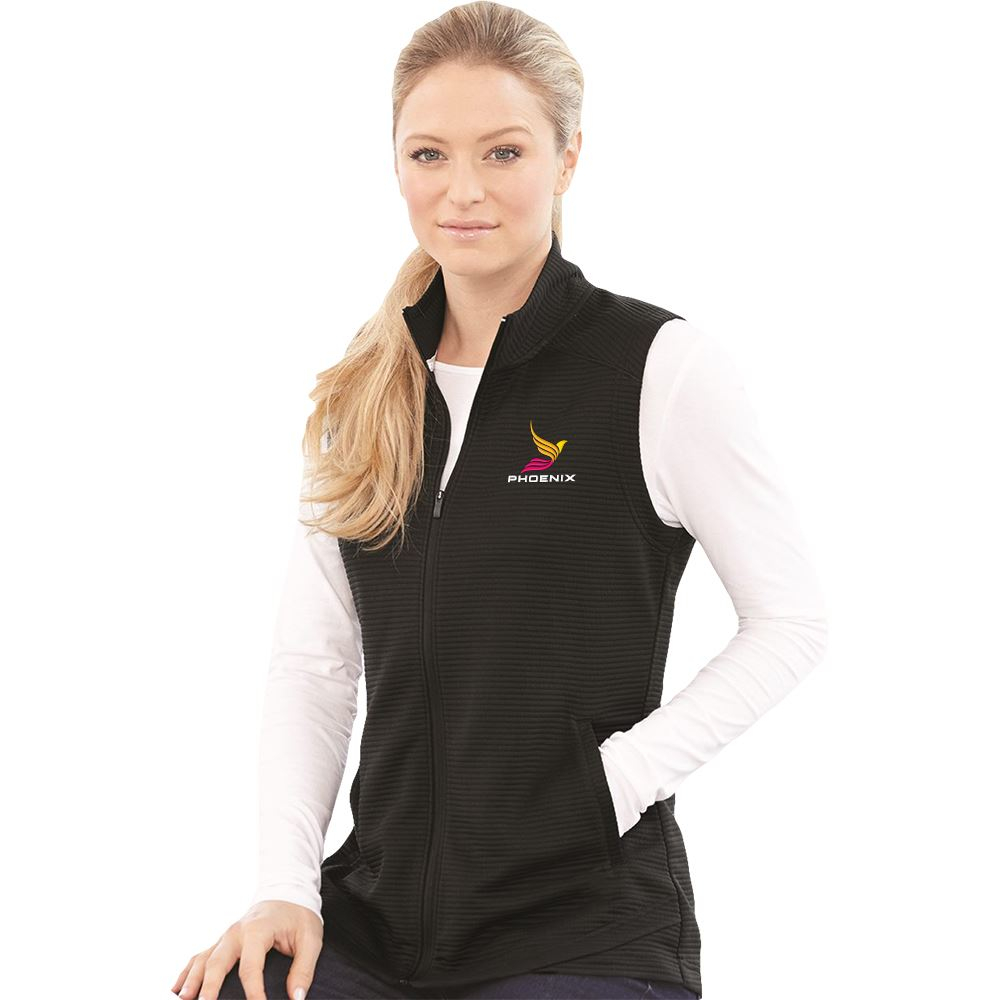 Adidas® Women's�Lifestyle Textured Full-Zip Vest - Personalization Available