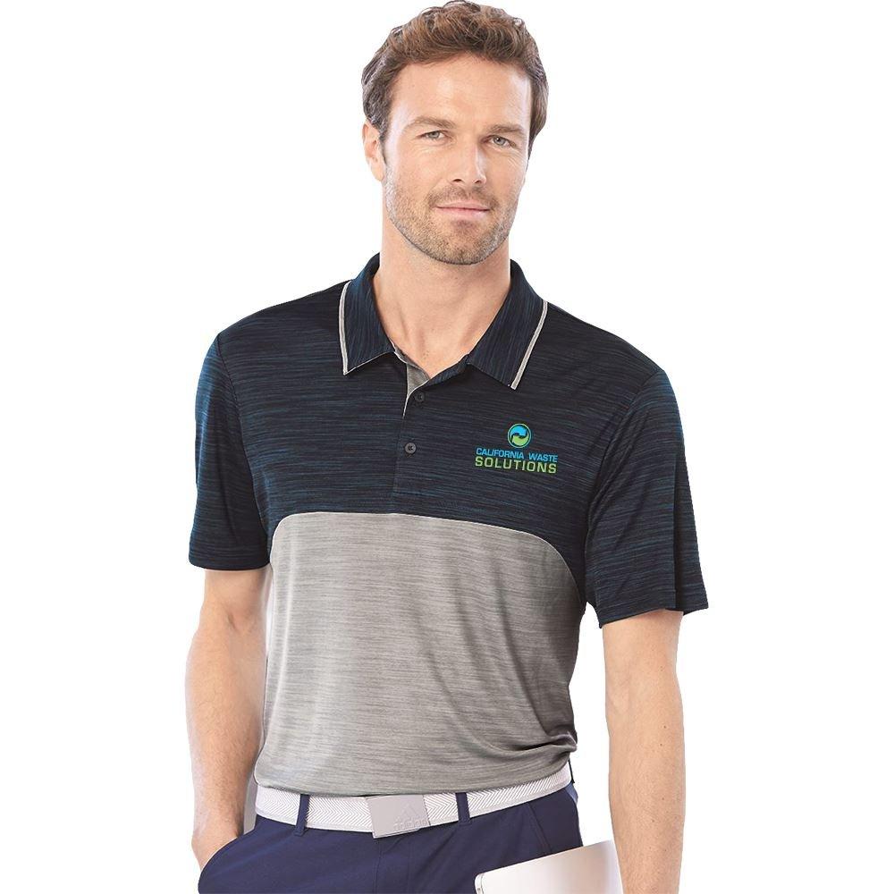 Adidas® Men's Colorblocked Melange Sport Shirt - Personalization Available