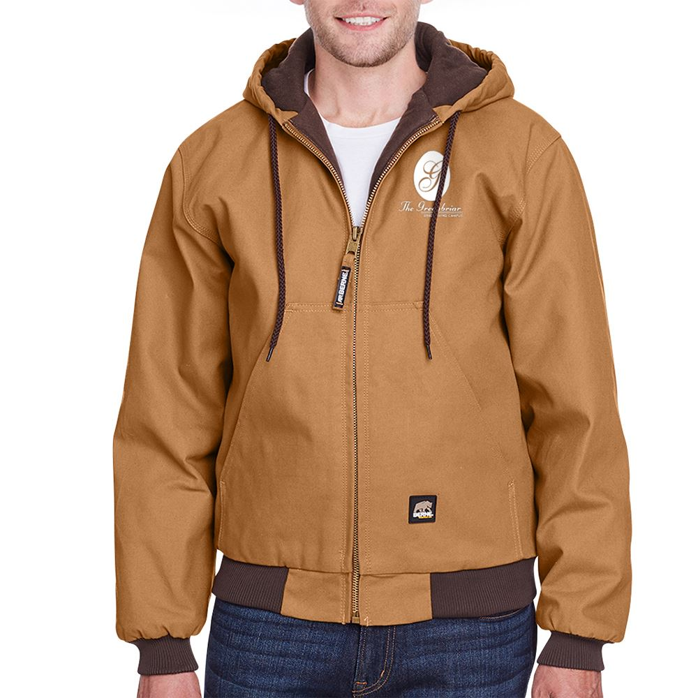 Berne Men's Heritage Cotton Duck Hooded Jacket - Personalization Available