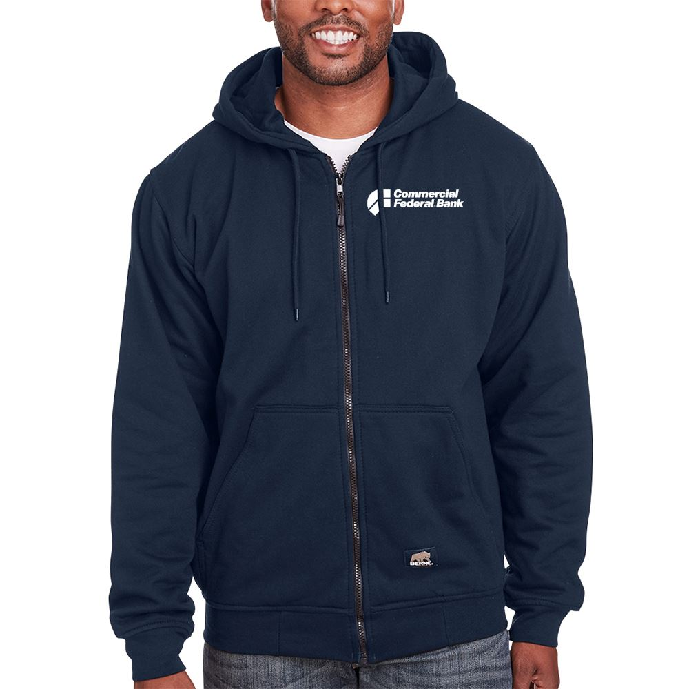 Berne Men's Heritage Thermal-Lined Full-Zip Hooded Sweatshirt - Personalization Available