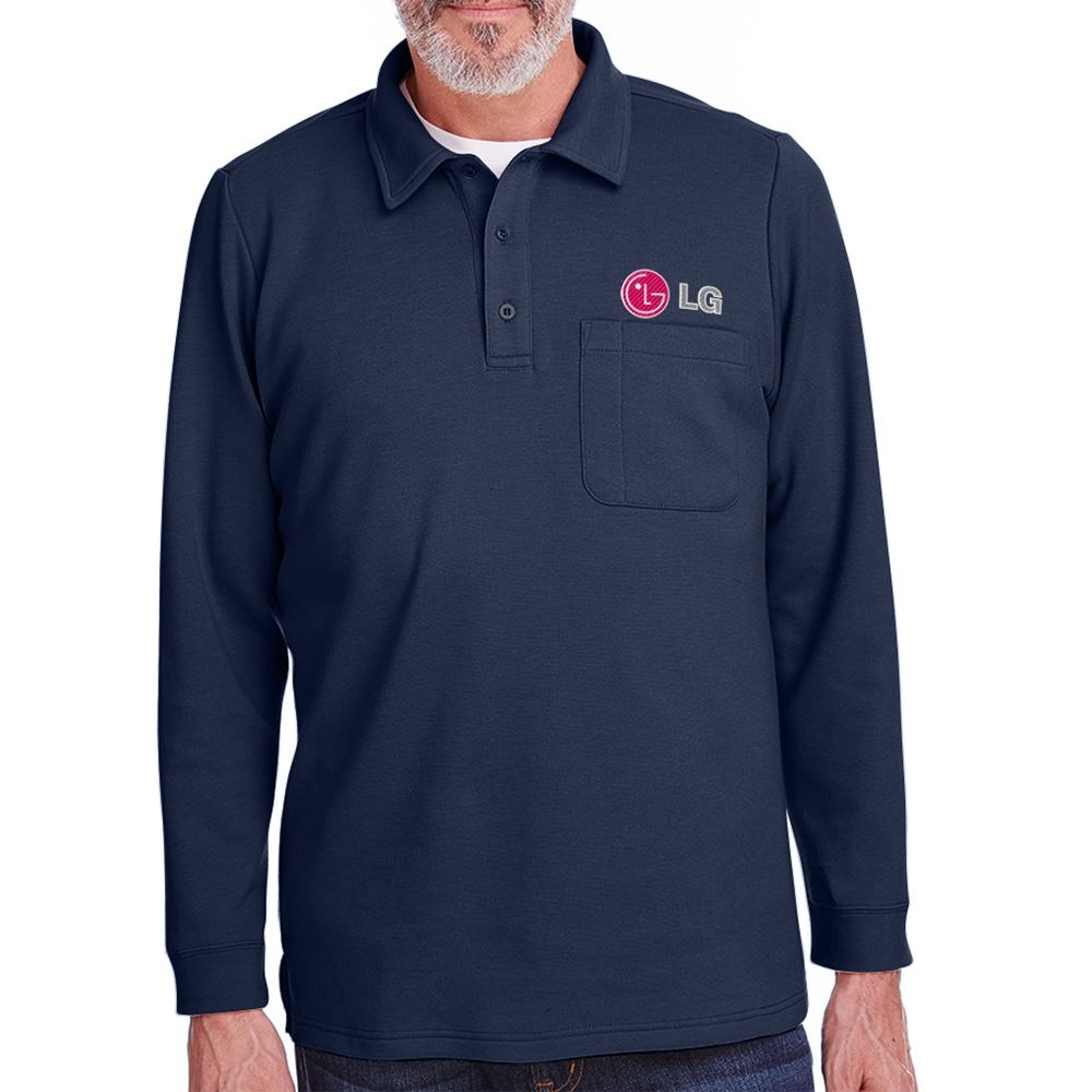 Harriton® Adult StainBloc™ Pique Fleece Pullover Jacket - Personalization Available