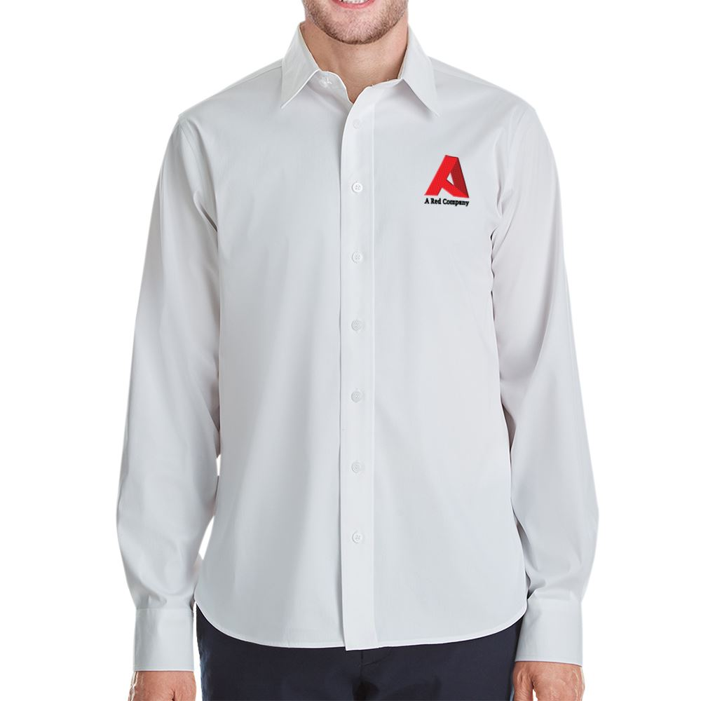 Devon & Jones® Crown Collection™ Stretch Broadcloth Untucked Shirt - Personalization Available