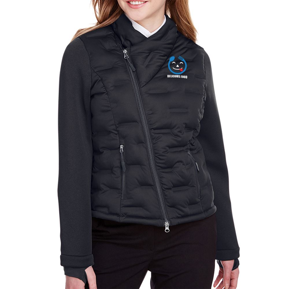 North End Women's Pioneer Hybrid Bomber Jacket - Personalization Available