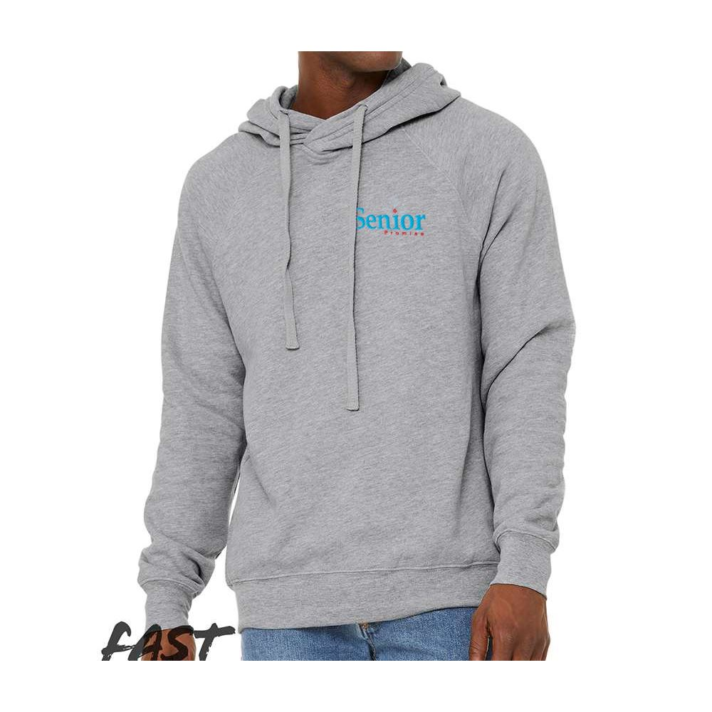 Bella + Canvas®�Unisex Crossover Hoodie - Embroidered Personalization Available