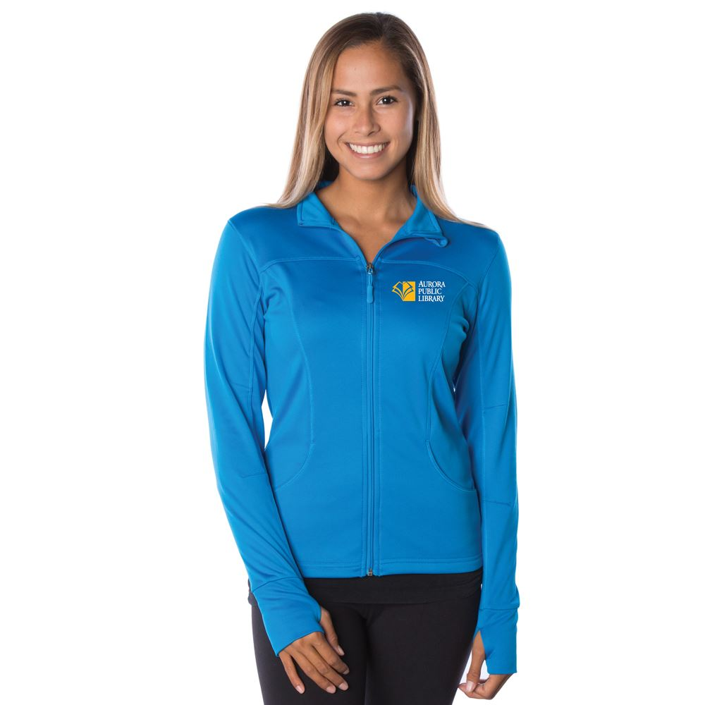 Independent Trading Co.® Women's Poly-Tech Full-Zip Jacket - Embroidered Personalization Available