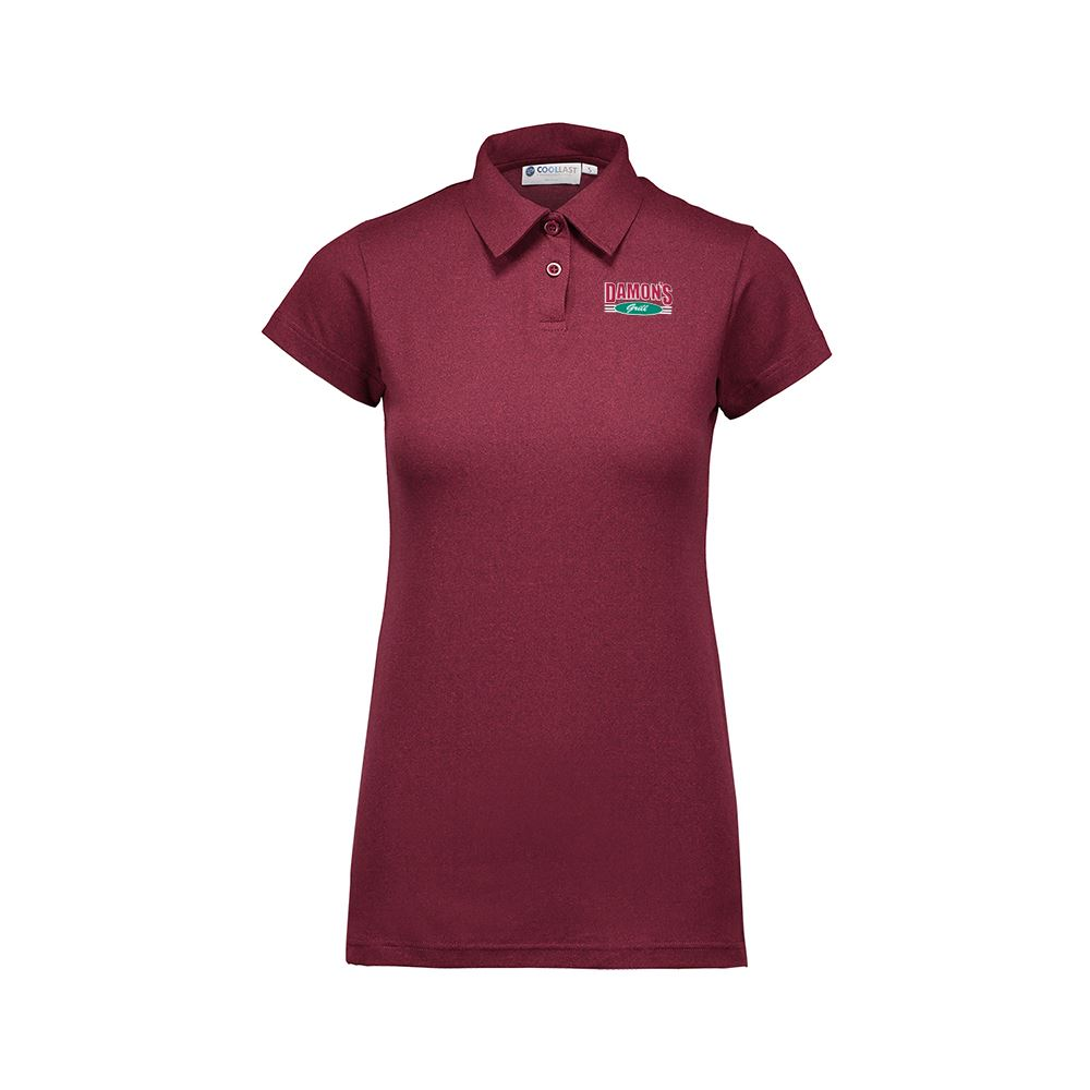MV Sport® Women's�CoolLast Heather Lux Polo - Personalization Available